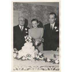 Judy Garland and Vincente Minnelli (4) wedding photographs with Ira Gershwin and Louis B. Mayer.