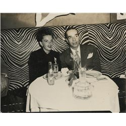 Judy Garland and Vincente Minnelli out on the town (2) candid photographs.