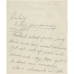 Judy Garland autograph letter signed to Vincente Minnelli with  lipstick kissed envelope.