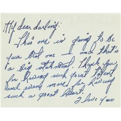 Judy Garland (2) autograph notes to Vincente Minnelli.