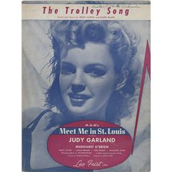 Judy Garland (2) pieces of sheet music from Meet Me in St. Louis.