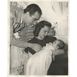 Judy Garland, Vincente Minnelli, and baby Liza Minnelli (4) photographs.