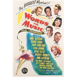 Judy Garland 1-sheet poster for Words and Music.