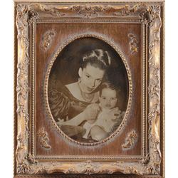 Judy Garland and baby Liza Minnelli framed photograph from The Pirate.