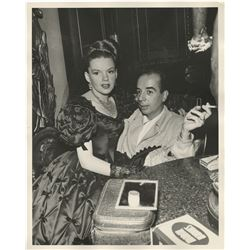 Judy Garland and Vincente Minnelli (3) behind the scenes photographs from The Pirate.