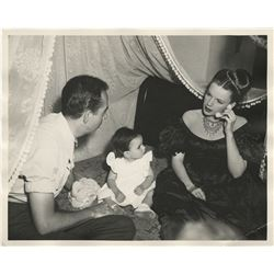 Judy Garland (2) photographs with Vincente and Liza Minnelli on the set of The Pirate.