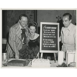 Judy Garland, Vincente Minnelli and Walter Slezak oversize photograph from the set of The Pirate.