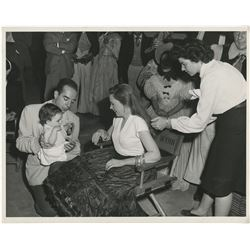 Judy Garland and Vincente Minnelli (2) oversize photographs from The Pirate.