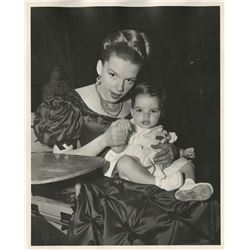 Judy Garland with baby Liza (8) vintage photographs on the set of The Pirate.