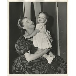 Judy Garland with baby Liza (6) vintage photographs on set of The Pirate.