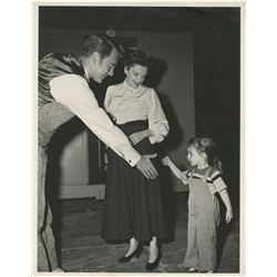 Judy Garland, Liza Minnelli, and Van Johnson (3) oversize behind the scenes photographs.