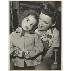 Judy Garland and Liza Minnelli oversize photograph from Summer Stock.