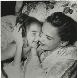 Judy Garland and toddler Liza Minnelli (4) portrait and behind-the-scenes photographs.
