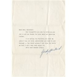 Judy Garland (3) typed letters signed to a fan.
