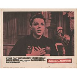 Judy Garland (5) lobby cards from Judgment at Nuremberg, Gay Purr-ee, and A Child is Waiting.