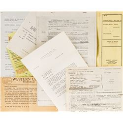 Judy Garland collection of ephemera including court summons and performance contracts.
