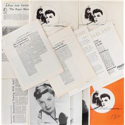 Judy Garland (4) press kits for live performances.