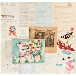 Judy Garland (20+) fan letters and ephemera.
