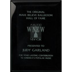 Judy Garland and Liza Minnelli 'The Original Make Believe Ballroom Hall of Fame' award plaques.
