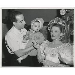 Liza Minnelli baby photograph on set of The Pirate with Judy Garland and Vincente Minnelli.