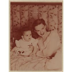 Liza Minnelli (2) early color process baby photographs with Judy Garland.