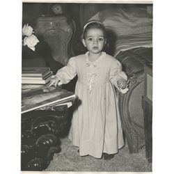 Liza Minnelli (2) childhood oversize portrait photographs.