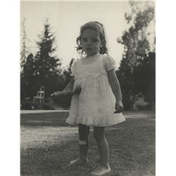 Liza Minnelli (16) childhood photographs of the future star at home.