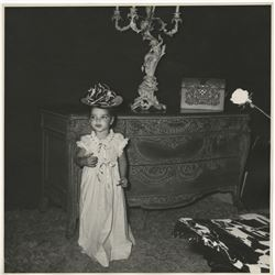 Liza Minnelli (5) oversize childhood dress-up photographs.