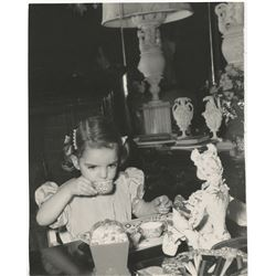 Liza Minnelli (6) childhood tea party oversize photographs.