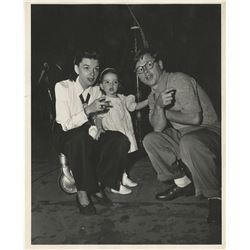 Liza Minnelli (3) childhood photographs with Judy Garland and Mickey Rooney.