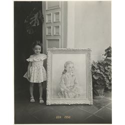 Liza Minnelli (6) childhood photographs with 1950 portrait painting.