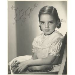 Liza Minnelli signed childhood photograph.