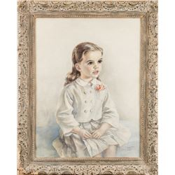 Liza Minnelli childhood portrait painting by Eileen Chandler commissioned by Judy Garland & Vincente