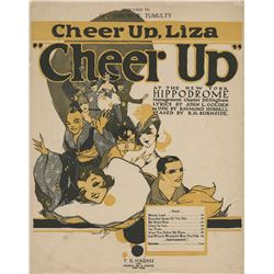 Liza Minnelli sheet music for 'Cheer Up, Liza', gifted by her father Vincente Minnelli.