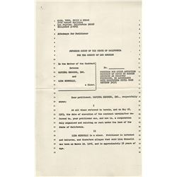 Liza Minnelli mimeo file copy of 1963 legal documents relating to her first recording contract.