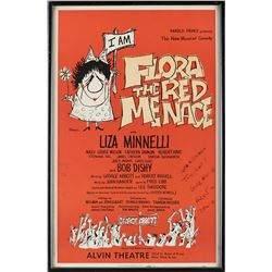 Liza Minnelli framed window card poster from the Kander and Ebb stage musical Flora the Red Menace.