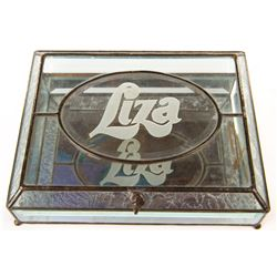 Liza Minnelli personalized glass dresser casket.