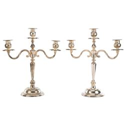 Liza Minnelli (2) International Silver Co. silver plate candelabras.