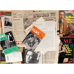 Liza Minnelli collection of (30+) magazines, clippings, and ephemera from her early career.