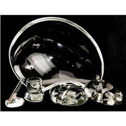 Liza Minnelli collection of (5) glass pieces including Tiffany & Co. by Elsa Peretti.