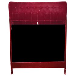 Liza Minnelli red velvet headboard and bedframe.