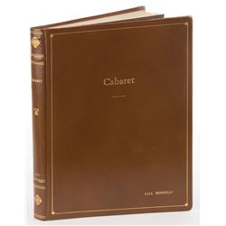 Liza Minnelli personal hand-annotated book bound shooting script for Cabaret.