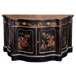 Liza Minnelli (2) laquered parlor tables.