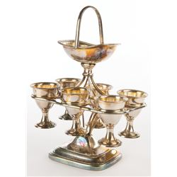Liza Minnelli collection of (25+) assorted silver-plate serving-ware.