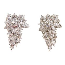 Liza Minnelli (2) crystal brooches.