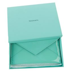 Liza Minnelli signature Tiffany & Co. patent leather passport envelope clutch.