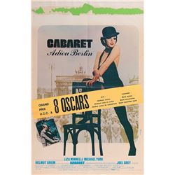 Liza Minnelli Belgian window card poster for Cabaret.