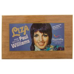 Liza Minnelli permaplaque 1973 concert ticket and TV Guide cover.
