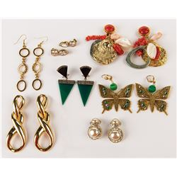 Liza Minnelli (7) pairs of earrings.