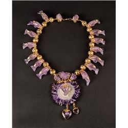 Liza Minnelli Russian gold and amethyst necklace.
